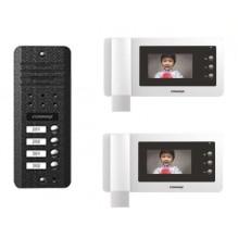 CN-2F COMMAX Coreea videointerfon color pentru 2 familii